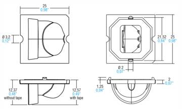 LENSES WITH TAPE FOR LUXEON M - 468780111 - TCI