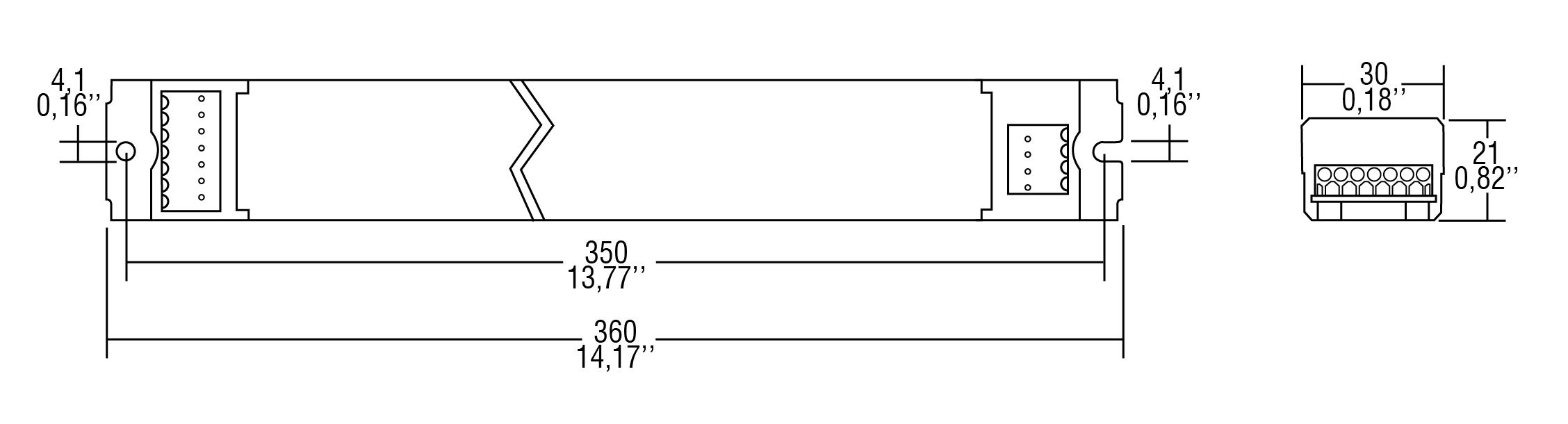 S-LED 100/500 DALI SLIM NFC - 127613 - TCI