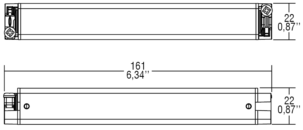 DC 13W 12V SLIM/U IP - 122444IP - TCI