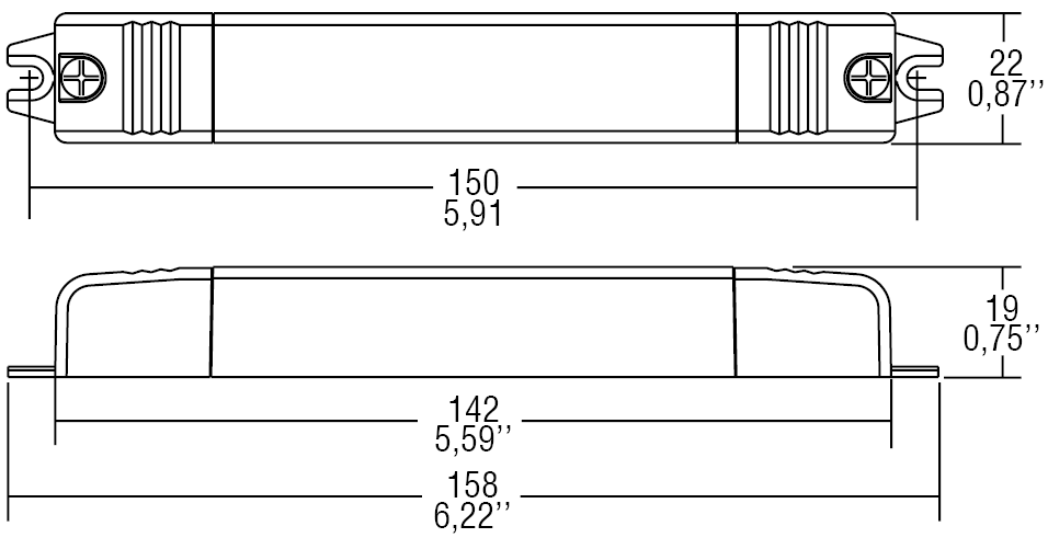 DC 14W 500mA SLIM/U - 122448BIS - TCI