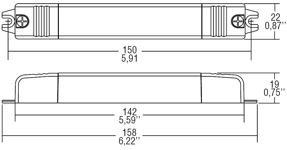 DC 15W 350mA SLIM/U - 122440 - TCI