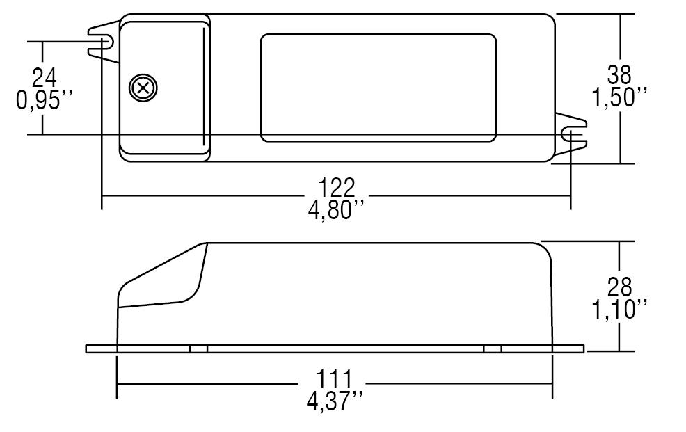 DC 16W 400mA W HPF - 127133 - TCI
