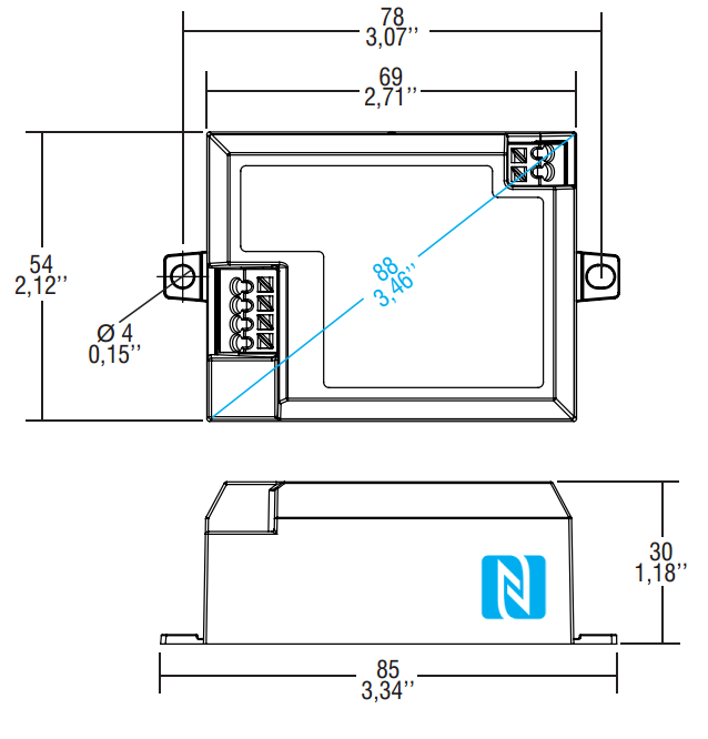 PROFESSIONALE SQUARE DALI NFC - 142020 - TCI